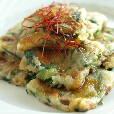 納豆とねぎのシンプルチヂミ